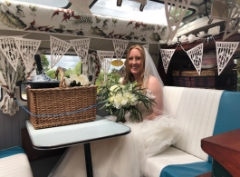 Splitscreen Campervan for weddings in Bristol